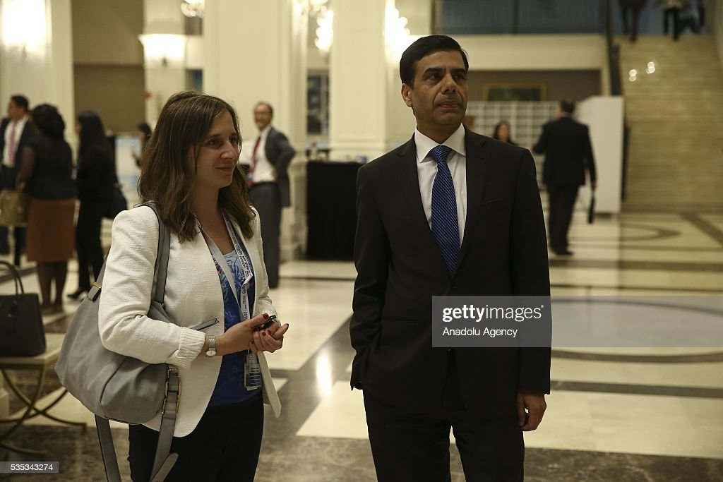United Nations Under-Secretary-General and High Representative for the Least Developed Countries, Gyan Chandra Acharya (R) is seen after the last session of the Midterm Review of the Istanbul Programme of Action for the Least Developed Countries in Antalya, Turkey on May 29, 2016.