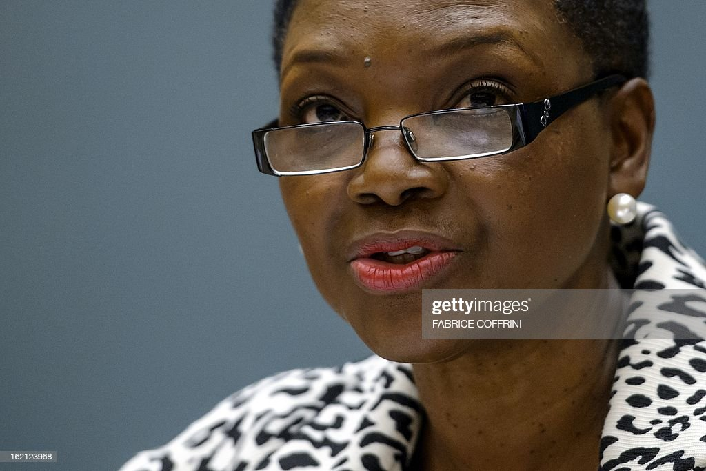 United Nations Undersecretary-General for Humanitarian Affairs (OCHA) Valerie Amos speaks during a humanitarian forum for Syrian held at the United Nations Office on February 19, 2013 in Geneva. More than four million people inside Syria are in desperate need of aid, up from 2.5 million in September, the UN's humanitarian agency said today.