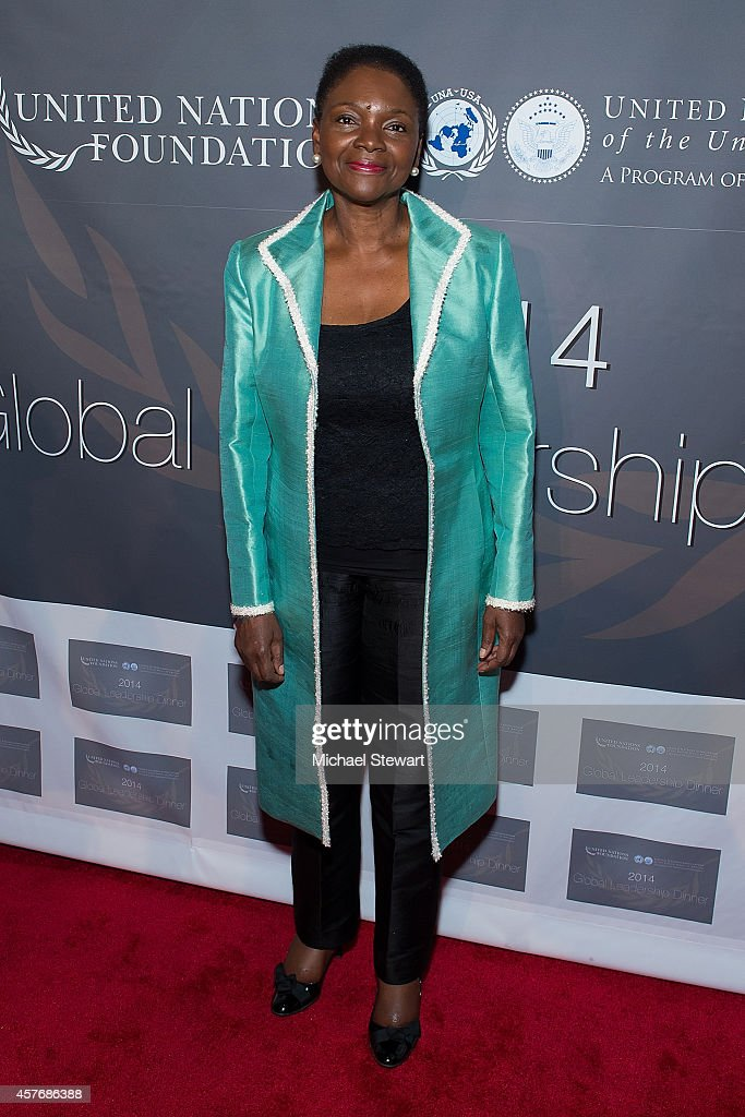 United Nations UnderSecretaryGeneral Valerie Amos attends the 2014 Global Leadership Dinner at Cipriani 42nd Street on October 22 2014 in New York...
