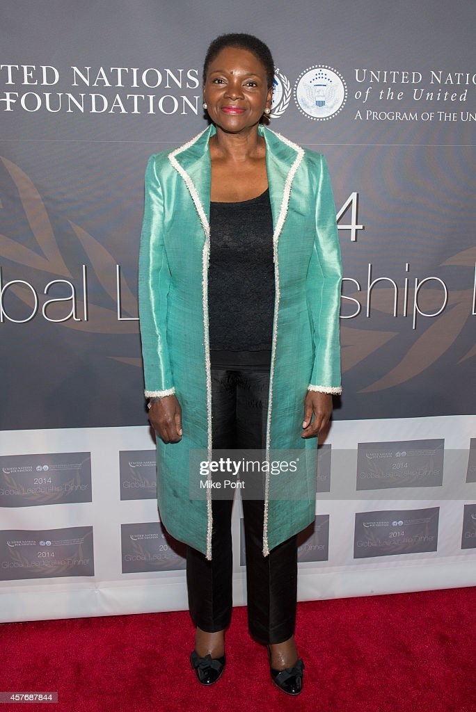 United Nations Under-Secretary-General <a gi-track='captionPersonalityLinkClicked' href=/galleries/search?phrase=Valerie+Amos&family=editorial&specificpeople=680128 ng-click='$event.stopPropagation()'>Valerie Amos</a> attends the 2014 Global Leadership Dinner at Cipriani 42nd Street on October 22, 2014 in New York City.