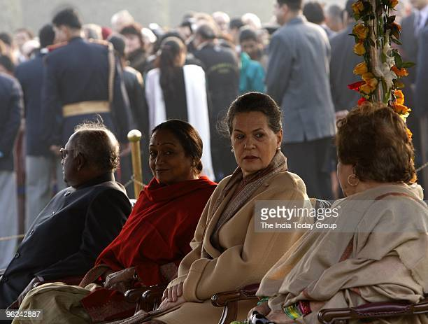 United Progressive Alliance Chairperson and Congress party President Sonia Gandhi at Rashtrapati Bhavan in New Delhi on Tuesday evening January 26...