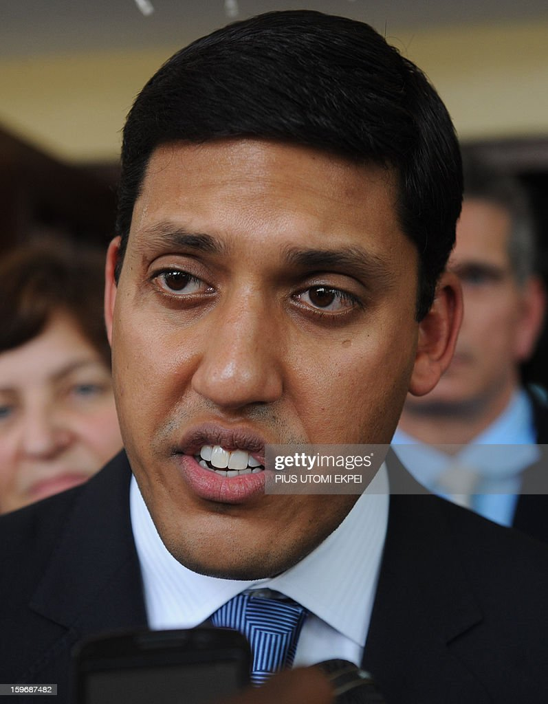 United States Agency for International Development (USAID) Adminstrator Rajiv Shah speaks to journalists at the Lagos Island Maternity Hospital after an inspection of health facilities sponsored by the agency in Lagos January 18, 2013. Shah is in Nigeria to meet with senior government officials to further USAID's collaboration with the government. He will also meet with leaders in private sector to discuss new opportunities for partnerships that can accelerate growth and development.