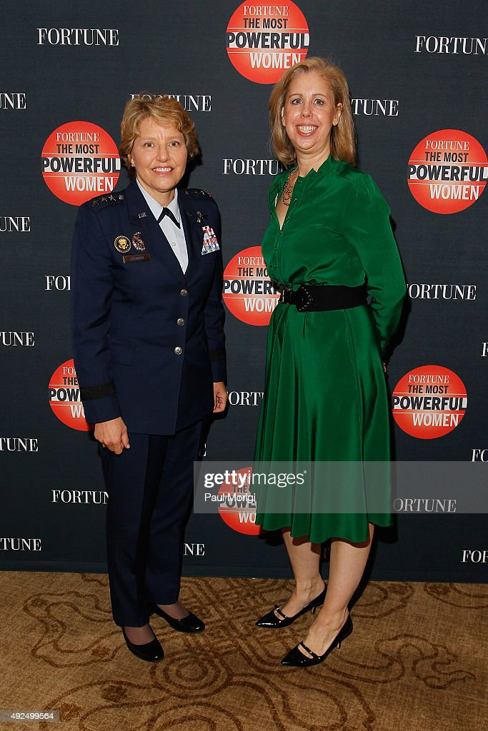 United States Air Force Academy Superintendent Lt Gen Michelle Johnson and TIME Editor Nancy Gibbs attend Fortune's Most Powerful Women Summit Day 2...