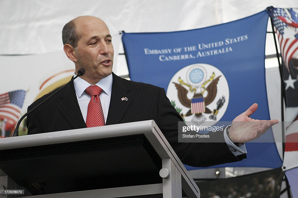 United States Ambassador to Australia Jeff Bleich speaks during a 4th of July celebration event at the US Embassy on July 3, 2013 in Canberra, Australia. The 4th of July is the national holiday of the Unites States celebrating its signing of the Declaration of Independence from Great Britain.