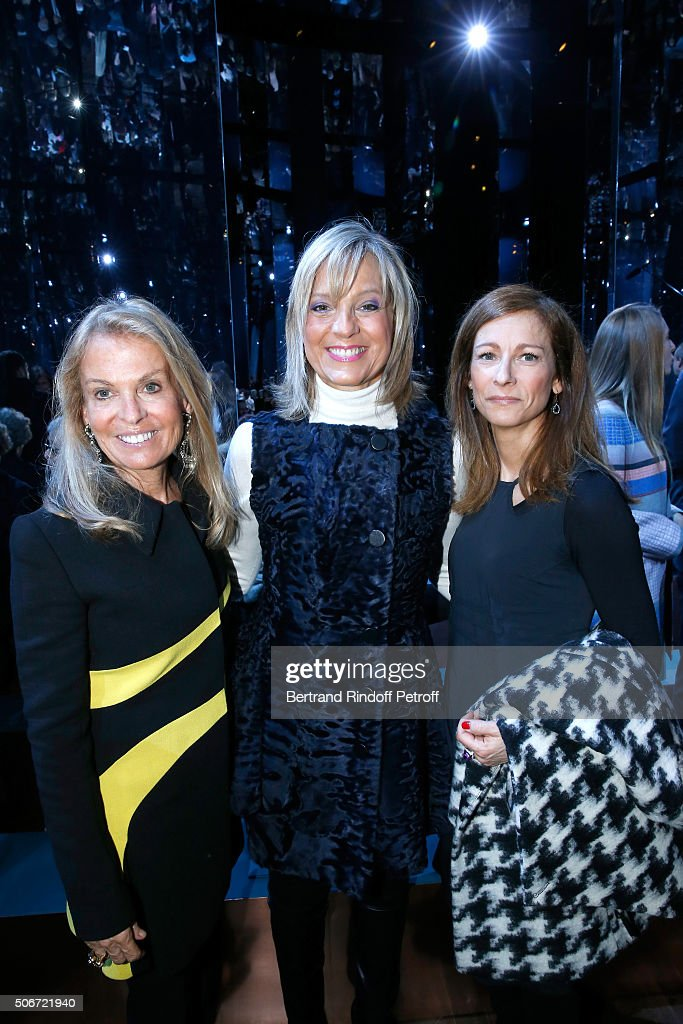 United States Ambassador to France, Jane D. Hartley, Helene Arnault and Violonist Anne Gravoin attend the Christian Dior Spring Summer 2016 show as part of Paris Fashion Week. Held at Musee Rodin on January 25, 2016 in Paris, France.