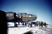 United States Army Air Force base in December 1942 in Goose Bay Labrador Canada