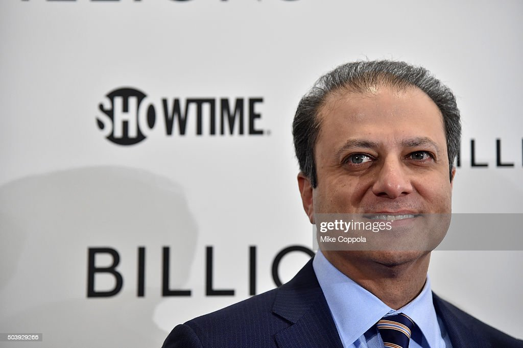 United States Attorney for the Southern District of New York Preet Bharara attends the Showtime series premiere of 'Billions' at The New York Museum...