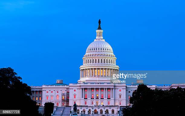 United States Capitol Building Night View
