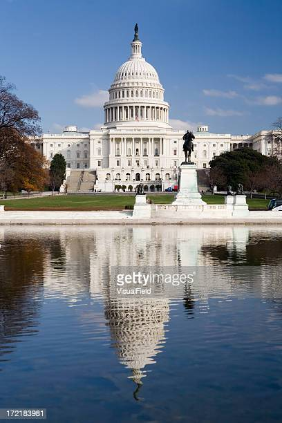 United States Capitol Building with Reflection