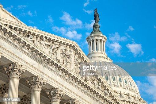 United States Capitol 下院ディテールとドーム型