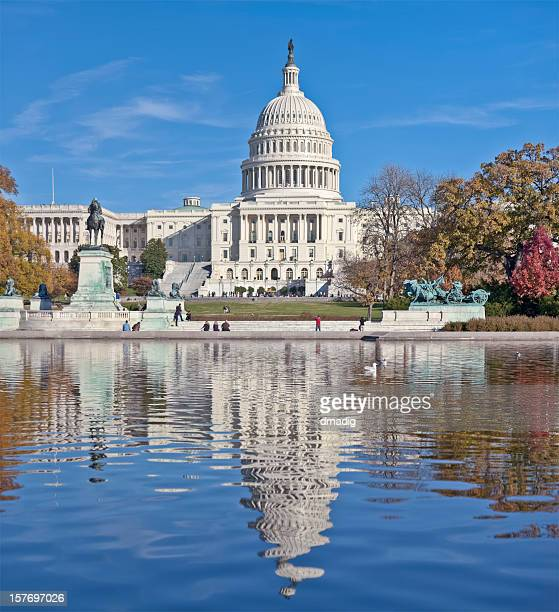 United States Capitol West Facade and Reflection Pool