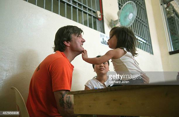 United States citizen James Kenneth Nichols from South Carolina enjoys a visit from his wife Rocelyn Paclibar and their daughter Aged 37 he is on...