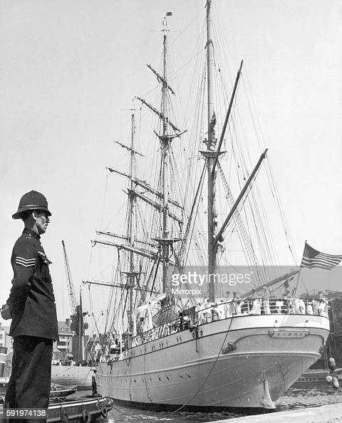 United States Coastguard Ship 'Eagle' in London's Shadwell Basin 24th June 1939