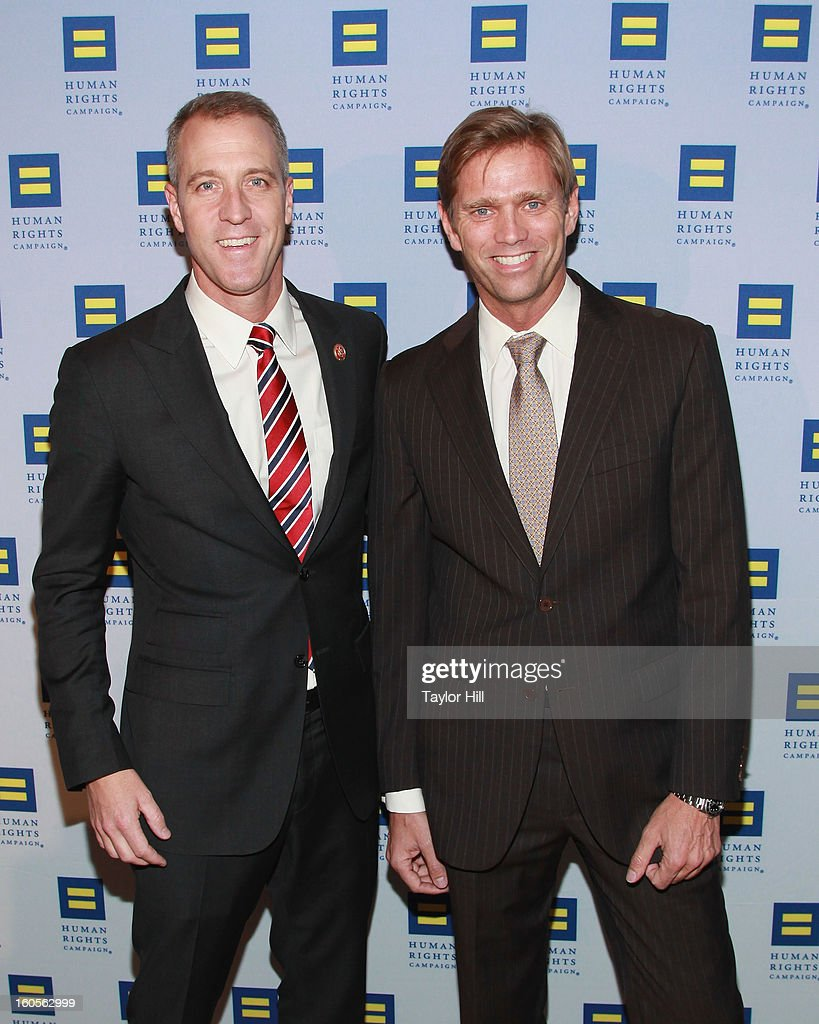 United States Congressman Sean Patrick Maloney, D-NY-18, and partner Randy Florke attend The 2013 Greater New York Human Rights Campaign Gala at The Waldorf=Astoria on February 2, 2013 in New York City.