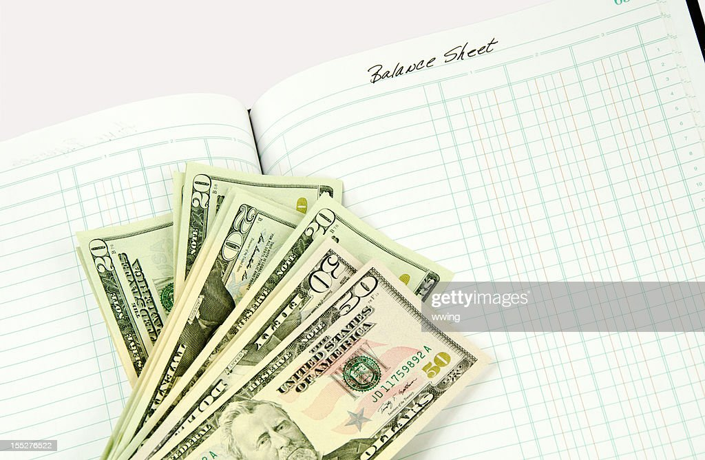 United States Currency on Account Book