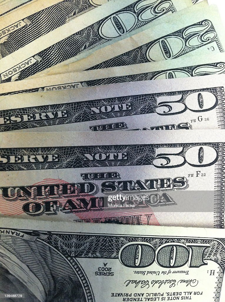 United States currency : Stock Photo