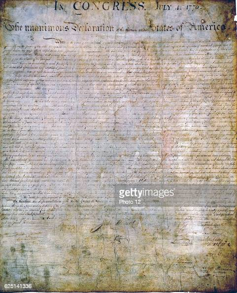 United States Declaration of Independence authorised by Continental Congress 2 July 1776 With minor revisions released publicly on 4 July 1776