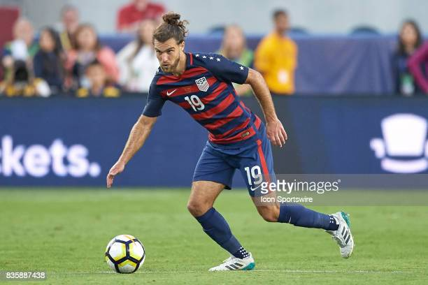 United States defender Graham Zusi dribbles the ball during the CONCACAF Gold Cup Final match between the United States v Jamaica at Levi's Stadium...