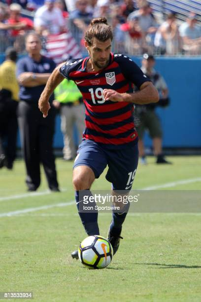 United States defender Graham Zusi during the group stage match of the CONCACAF Gold Cup between the United States and Panama on July 08 2017 The...