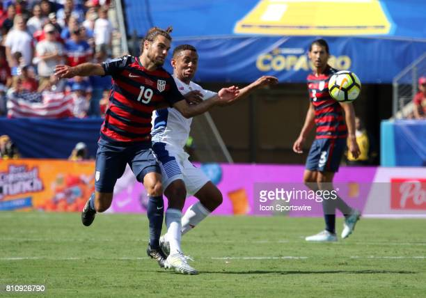 United States defender Graham Zusi pursues the ball the group stage match of the CONCACAF Gold Cup between the United States and Panama on July 08...
