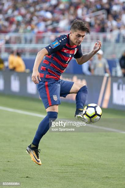 United States defender Jorge Villafana controls the ball during the CONCACAF Gold Cup Final match between the United States v Jamaica at Levi's...