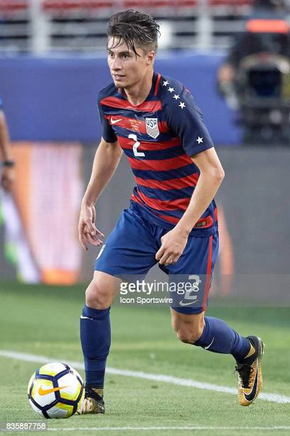 United States defender Jorge Villafana dribbles the ball during the CONCACAF Gold Cup Final match between the United States v Jamaica at Levi's...