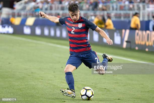 United States defender Jorge Villafana kicks the ball during the CONCACAF Gold Cup Final match between the United States v Jamaica at Levi's Stadium...