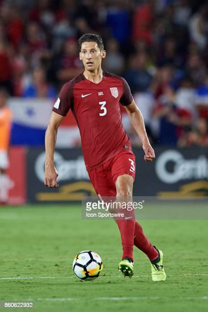 United States defender Omar Gonzalez dribbles the ball during the World Cup Qualifying match between the the United States and Panama on October 6...