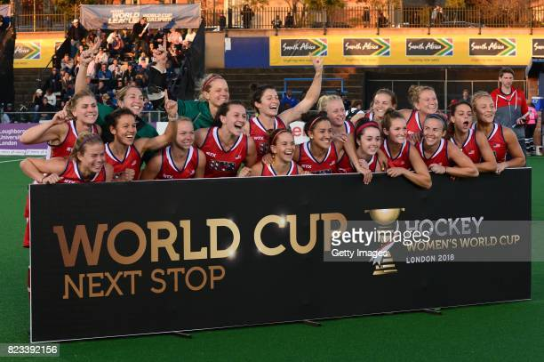 United States during day 9 of the FIH Hockey World League Women's Semi Finals at Wits University on July 23 2017 in Johannesburg South Africa