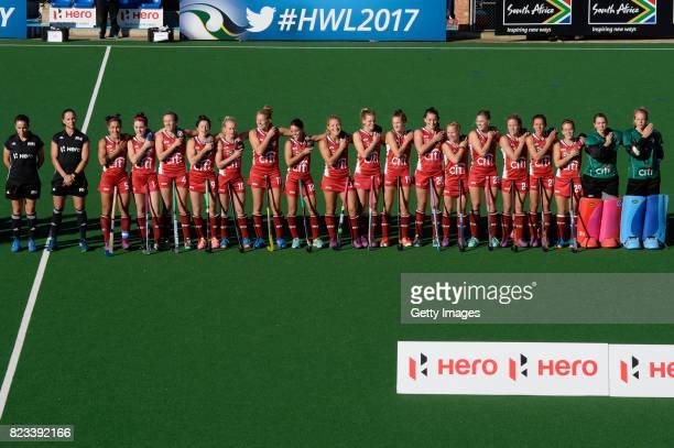 United States during day 9 of the FIH Hockey World League Women's Semi Finals final match between United States and Germany at Wits University on...