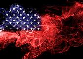 United States flag smoke, US flag