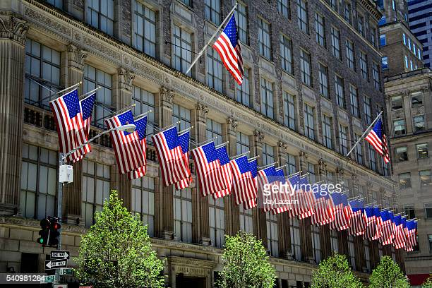 United States Flags, Saks & Co., Manhattan, New York City