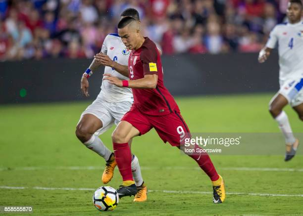United States forward Bobby Wood looks to shoot the ball during the World Cup Qualifier soccer match between the USA Mens National Team and Panama...