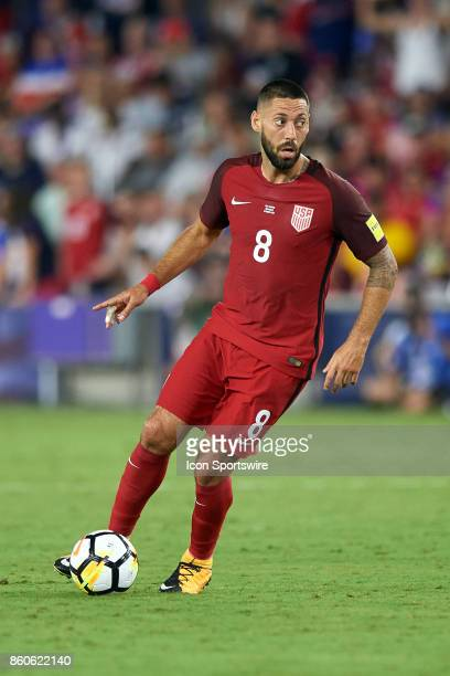United States forward Clint Dempsey dribbles the ball during the World Cup Qualifying match between the the United States and Panama on October 6...