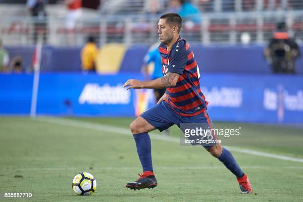 United States forward Clint Dempsey dribbles the ball during the CONCACAF Gold Cup Final match between the United States v Jamaica at Levi's Stadium...