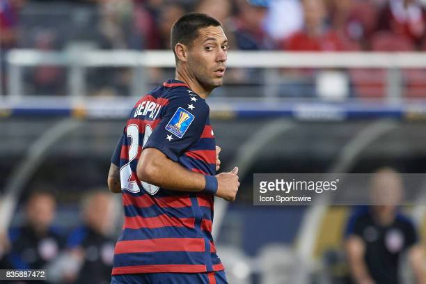 United States forward Clint Dempsey looks on during the CONCACAF Gold Cup Final match between the United States v Jamaica at Levi's Stadium on July...