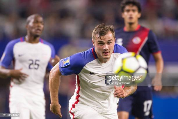 United States forward Jordan Morris during the CONCACAF Gold Cup Semifnal game between USA and Costa Rica on July 22nd 2017 at ATT Stadium in...