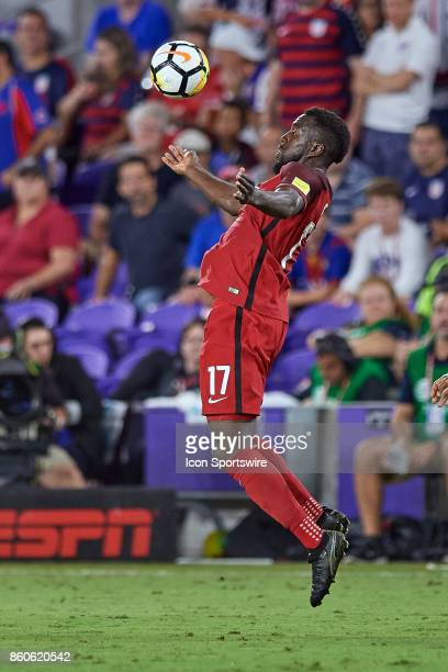 United States forward Jozy Altidore chests the ball during the World Cup Qualifying match between the the United States and Panama on October 6 2017...