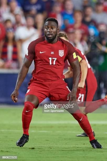 United States forward Jozy Altidore reacts for the ball during the World Cup Qualifying match between the the United States and Panama on October 6...