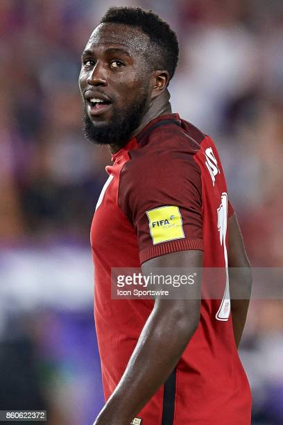 United States forward Jozy Altidore reacts to a paly during the World Cup Qualifying match between the the United States and Panama on October 6 2017...