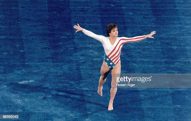 United States gymnast Mary Lou Retton performs circa 1980s