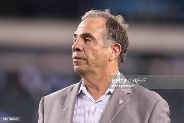 United States Head Coach Bruce Arena walks the field after the CONCACAF Gold Cup Quarterfinal game between the United State and El Salvador on July...