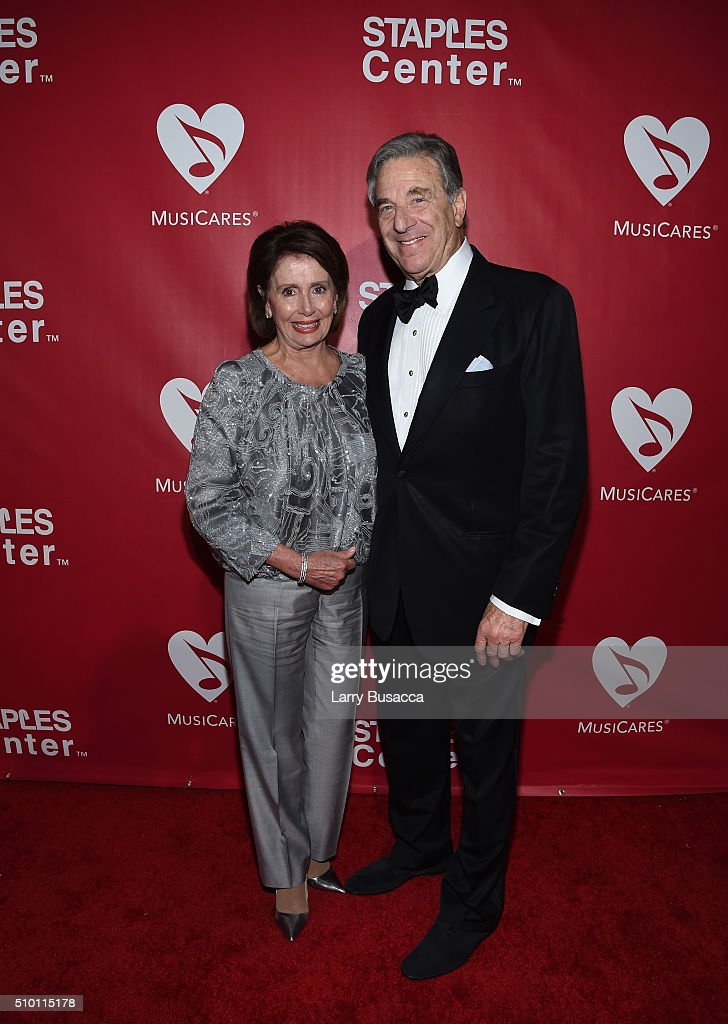 United States House of Representatives Minority Leader Nancy Pelosi (L) and Paul Pelosi attend the 2016 MusiCares Person of the Year honoring Lionel Richie at the Los Angeles Convention Center on February 13, 2016 in Los Angeles, California.