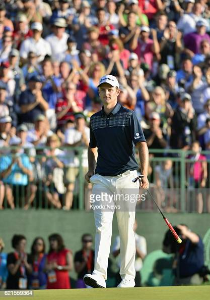 ARDMORE United States Justin Rose of England is pictured after winning the US Open championships at Merion Golf Club in Ardmore Pennsylvania on June...