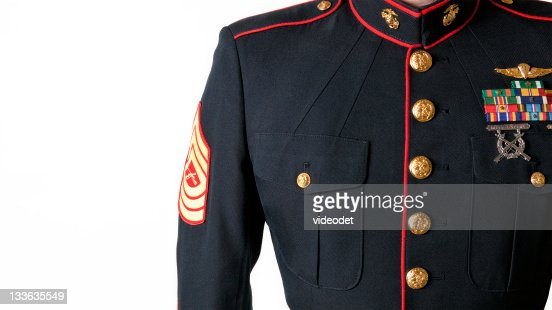 United States Marine Corps Dress Blues Uniform Stock Photo Thinkstock