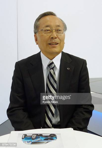 LOS ANGELES United States Mazda Motor Corp President Takashi Yamanouchi is interviewed by Kyodo News in Los Angeles California on Nov 17 2011 He said...