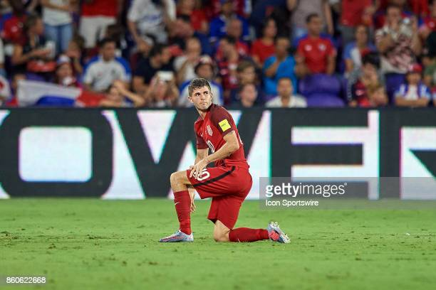 United States midfielder Christian Pulisic reacts after being fouled during the World Cup Qualifying match between the the United States and Panama...