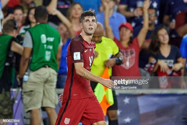 United States midfielder Christian Pulisic reacts during the World Cup Qualifying match between the the United States and Panama on October 6 2017 at...