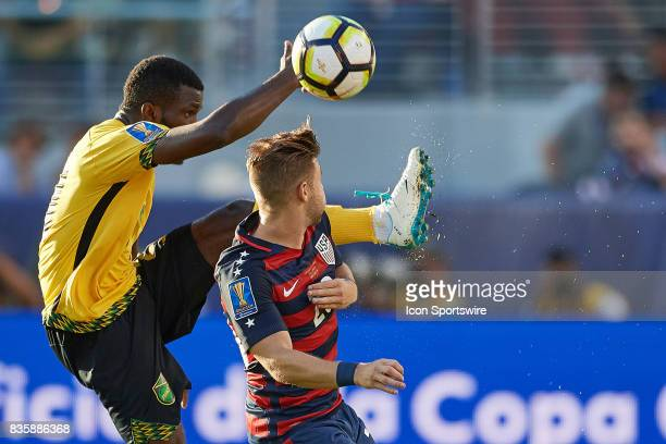 United States midfielder Paul Arriola battles for ball during the CONCACAF Gold Cup Final match between the United States v Jamaica at Levi's Stadium...