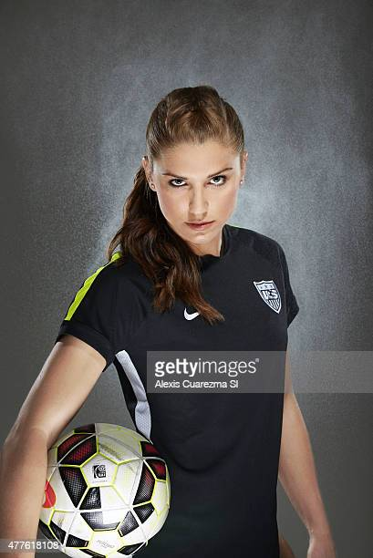 United States National Soccer team member Alex Morgan is photographed for Sports Illustrated on May 2 2015 in Newport Beach California PUBLISHED...